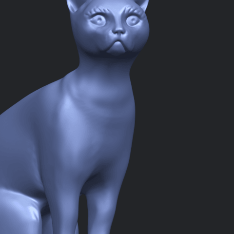 02_TDA0576_Cat_01A10.png Télécharger fichier STL gratuit Chat 01 • Modèle pour imprimante 3D, GeorgesNikkei