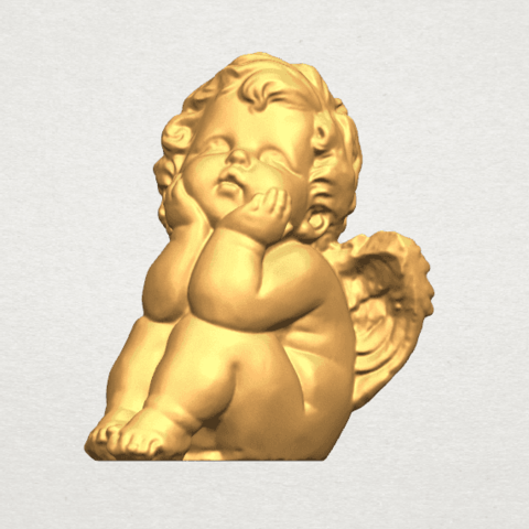 TDA0481 Angel Baby 04 B02.png Download free STL file Angel Baby 04 • 3D printable template, GeorgesNikkei