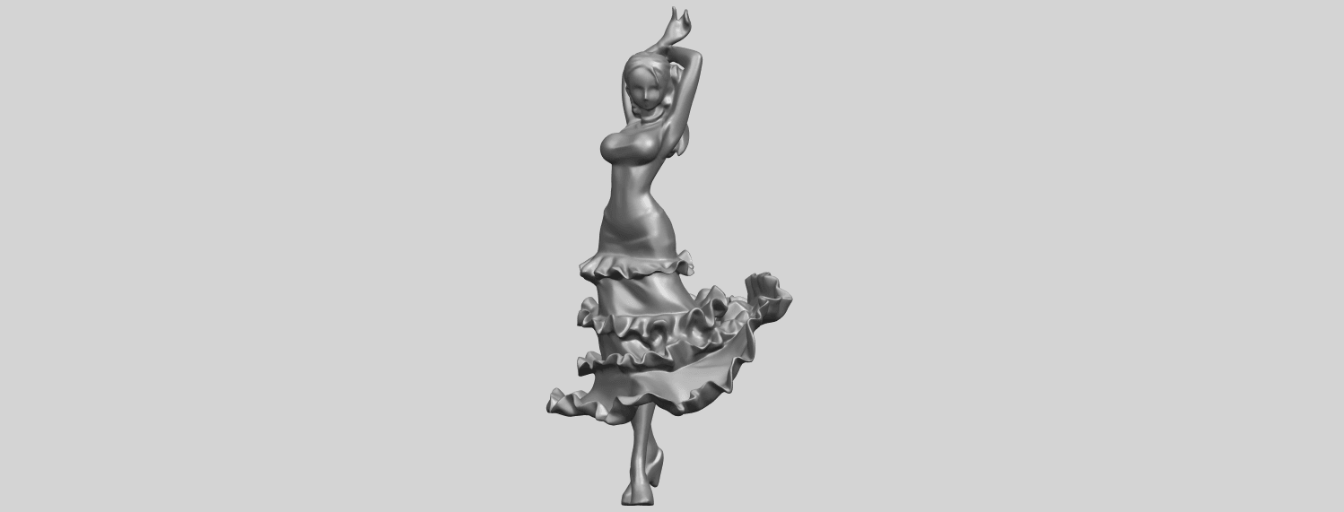 23_Girl_with_Dress_80mm-A05.png Download free STL file Girl with Dress • Object to 3D print, GeorgesNikkei