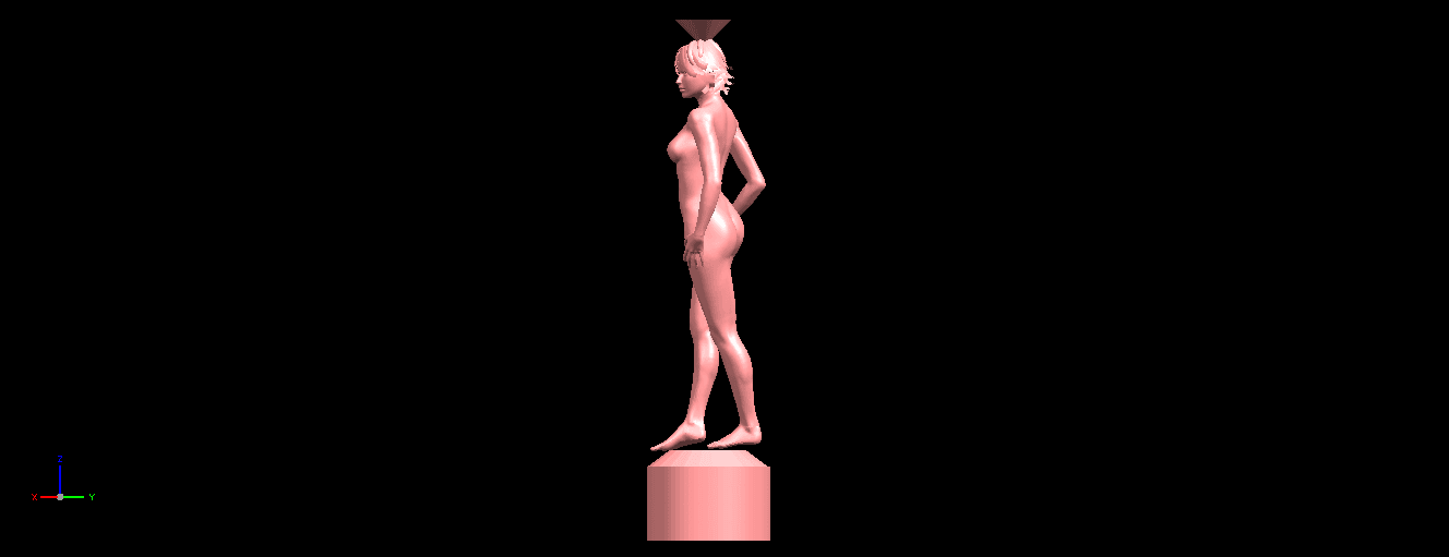 02.png Download free STL file Naked Girl with Vase on Top (i) • 3D print template, GeorgesNikkei