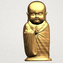 Little Monk 80mm - A01.png Télécharger fichier STL gratuit Petit Moine 01 • Objet à imprimer en 3D, GeorgesNikkei