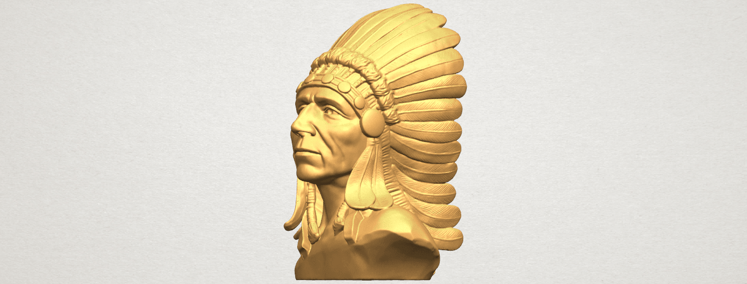 TDA0489 Red Indian 03 - Bust A02.png Download free STL file Red Indian 03 • 3D printer model, GeorgesNikkei