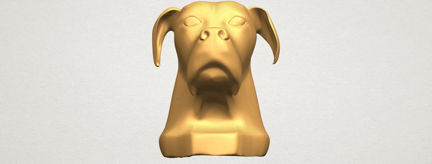 TDA0535 Dog Head A03.png Download free STL file Dog Head • Model to 3D print, GeorgesNikkei