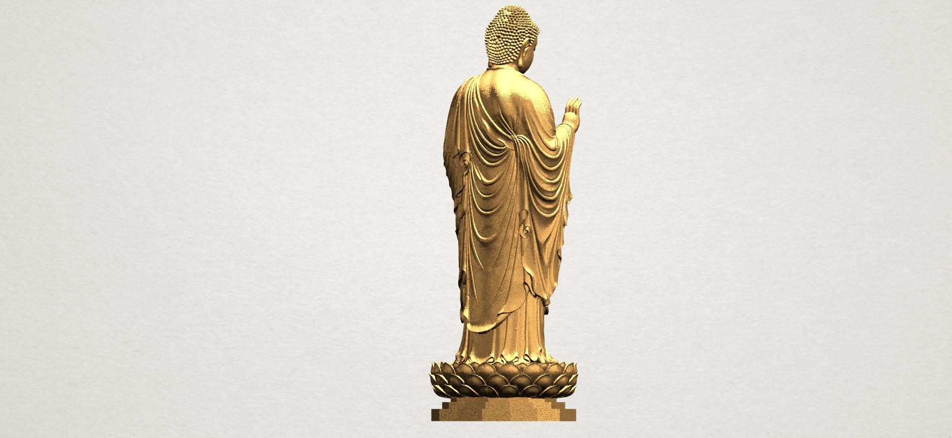 Gautama Buddha Standing (ii) A06.png Download free STL file Gautama Buddha Standing 02 • 3D printer design, GeorgesNikkei