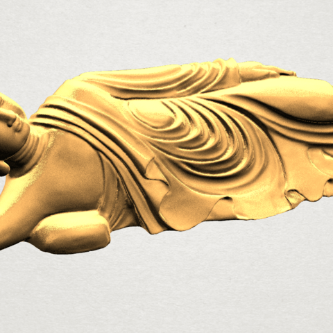Sleeping Buddha (ii) A06.png Download free STL file Sleeping Buddha 02 • Design to 3D print, GeorgesNikkei