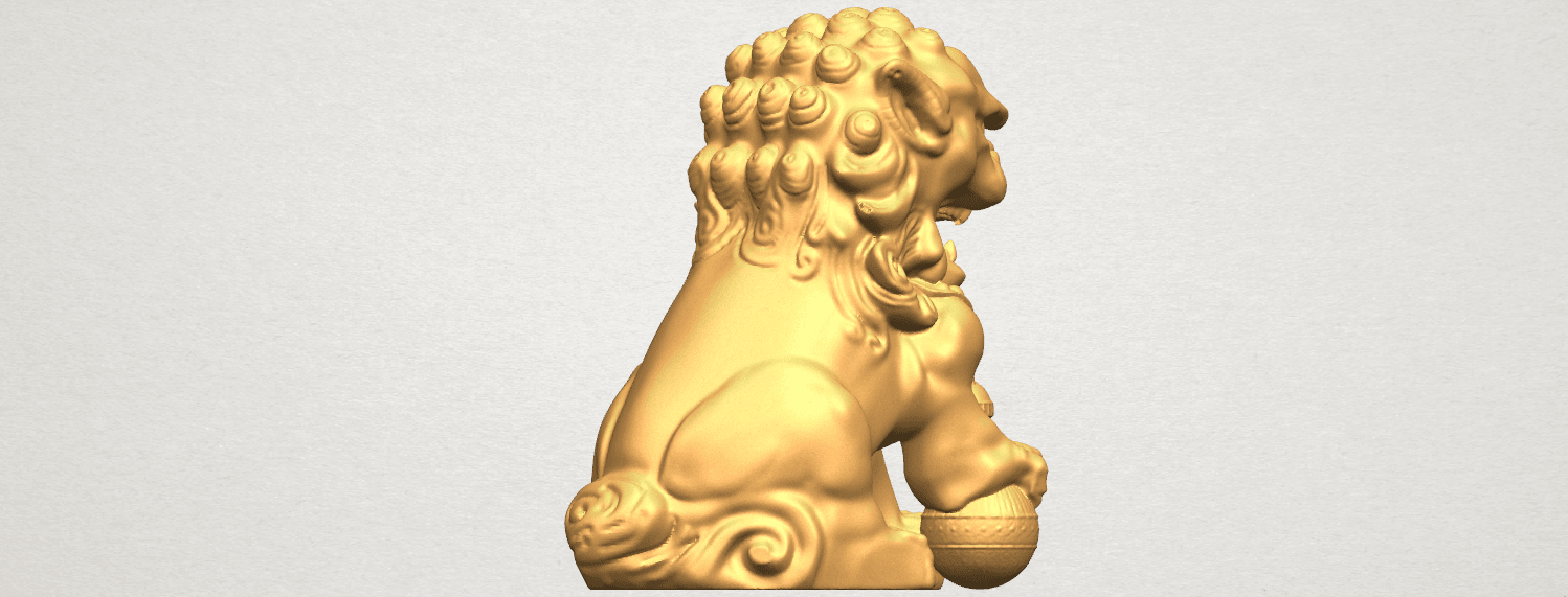 TDA0500 Chinese Lion A05.png Download free STL file Chinese Lion • 3D printing object, GeorgesNikkei