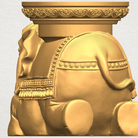 TDA0501 Elephant Table A03.png Download free STL file Elephant Table • 3D printing object, GeorgesNikkei
