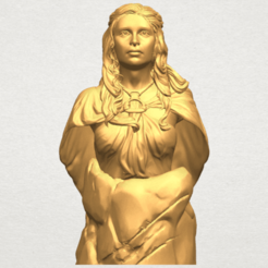 Bust of a girl 02 3D model, Miketon