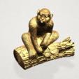 Chinese Horoscope09 - B05.png Télécharger fichier STL gratuit Horoscope Chinois 09 Singe 09 Singe • Objet pour imprimante 3D, GeorgesNikkei