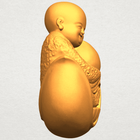 A09.png Download free STL file Little Monk 03 • 3D print template, GeorgesNikkei