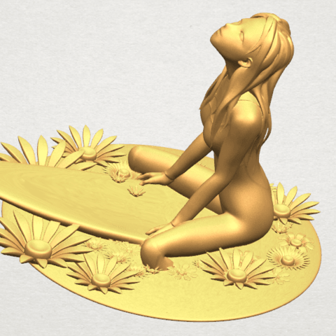 TDA0589 Girl surfing board 01 A11.png Download free STL file Girl surfing board 01 • 3D printing object, GeorgesNikkei