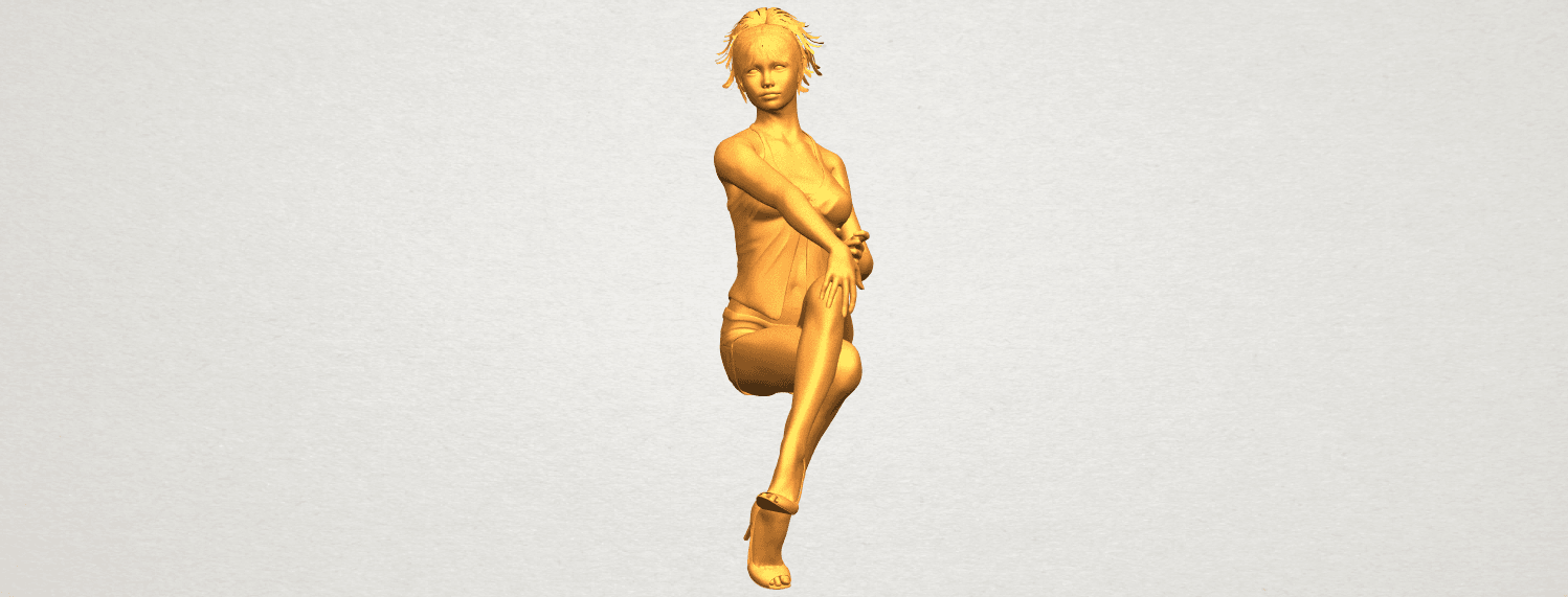 A04.png Download free STL file Naked Girl H05 • 3D printable object, GeorgesNikkei