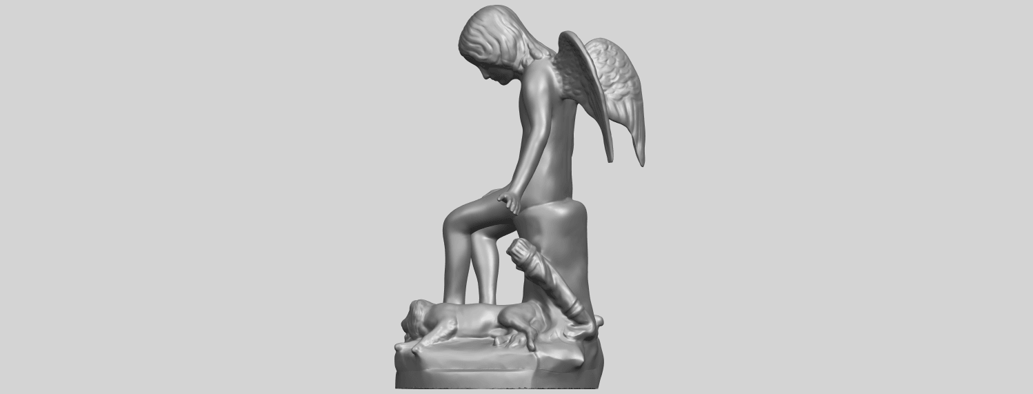 05_Angel_and_Dog_80mmA04.png Download free STL file Angel and Dog • 3D print model, GeorgesNikkei