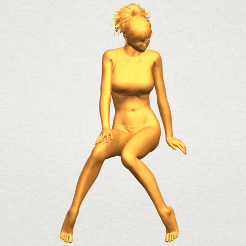 Download free 3D printer designs Naked Girl E03, GeorgesNikkei