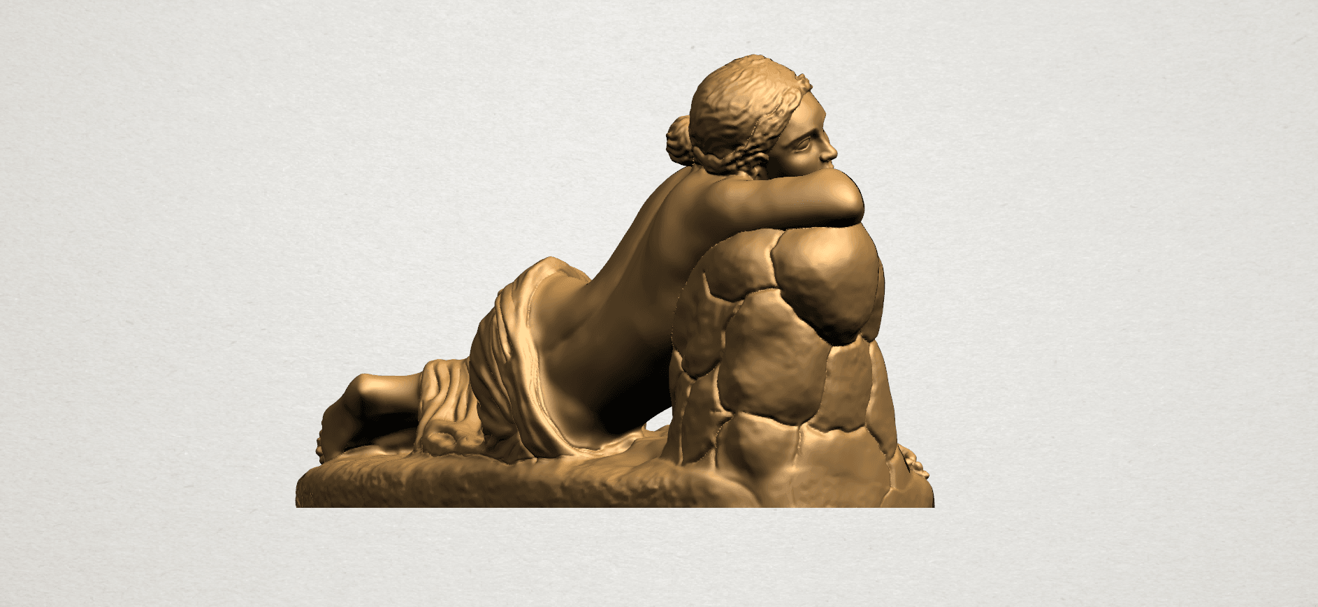 Naked Girl - Lying on Side - A08.png Download free STL file Naked Girl - Lying on Side • 3D printer template, GeorgesNikkei