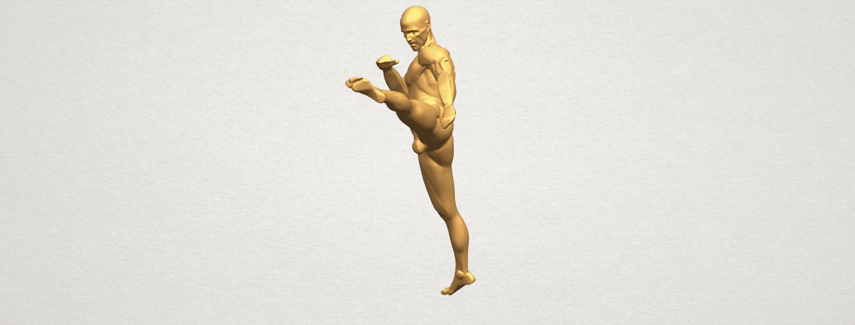 TDA0547 Man Kicking A06.png Télécharger fichier STL gratuit Man Kicking • Objet pour impression 3D, GeorgesNikkei
