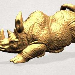 Download free 3D model Rhinoceros 01 Male, GeorgesNikkei