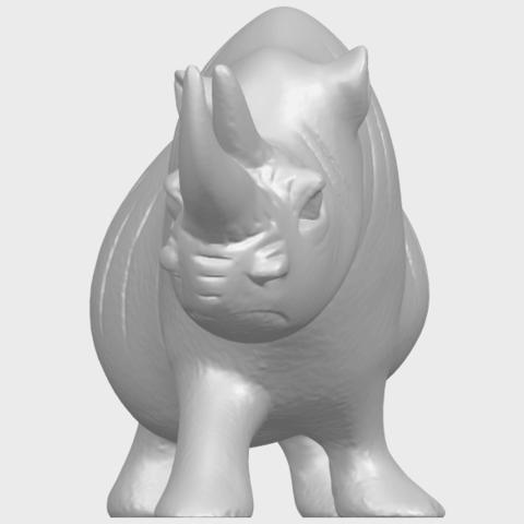 TDA0310_Rhinoceros_iiA09.png Download free STL file Rhinoceros 02 • 3D printing model, GeorgesNikkei