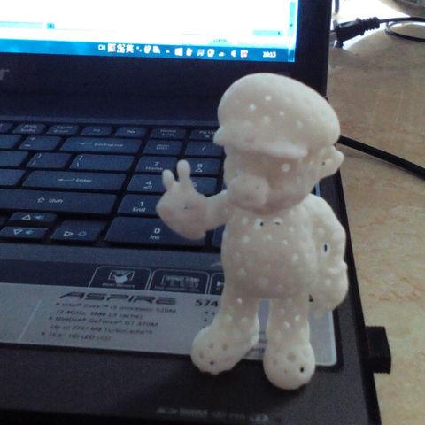 Mario-B02-.jpg Download free STL file Voronoi Mario • Model to 3D print, GeorgesNikkei