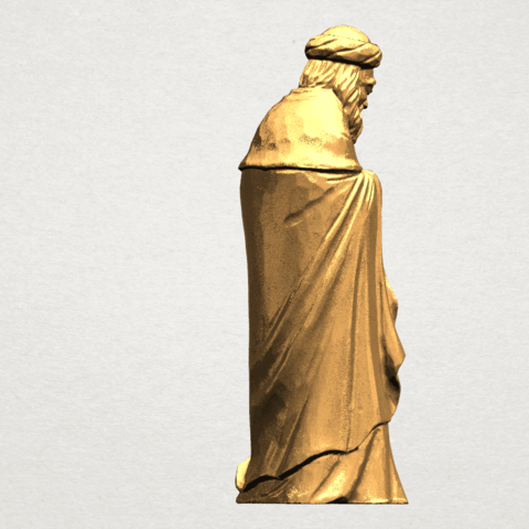 Sculpture of Arabian 88mm - A05.png Download free STL file Sculpture of Arabian • 3D print template, GeorgesNikkei