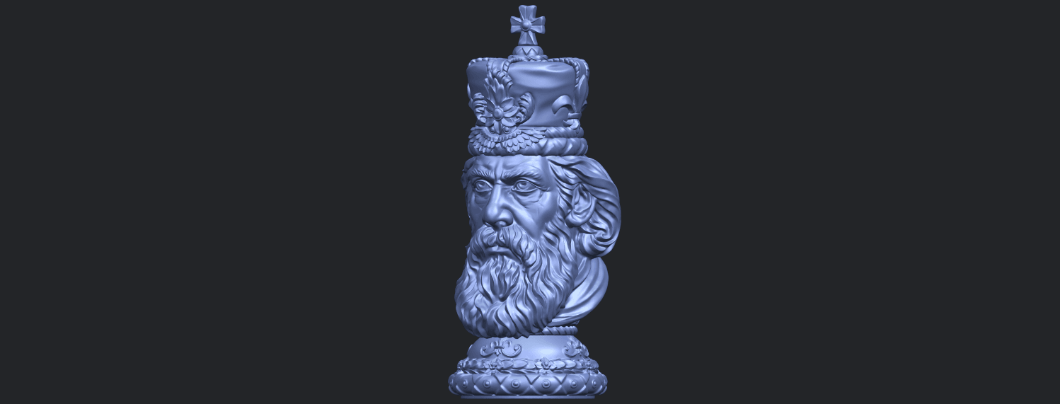 06_TDA0254_Chess-The_KingB02.png Download free STL file Chess-The King • 3D printer model, GeorgesNikkei