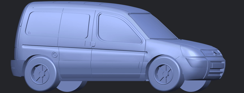 TDB002_1-50A07.png Download free STL file Citroen Berlingo Belgium Post • Design to 3D print, GeorgesNikkei