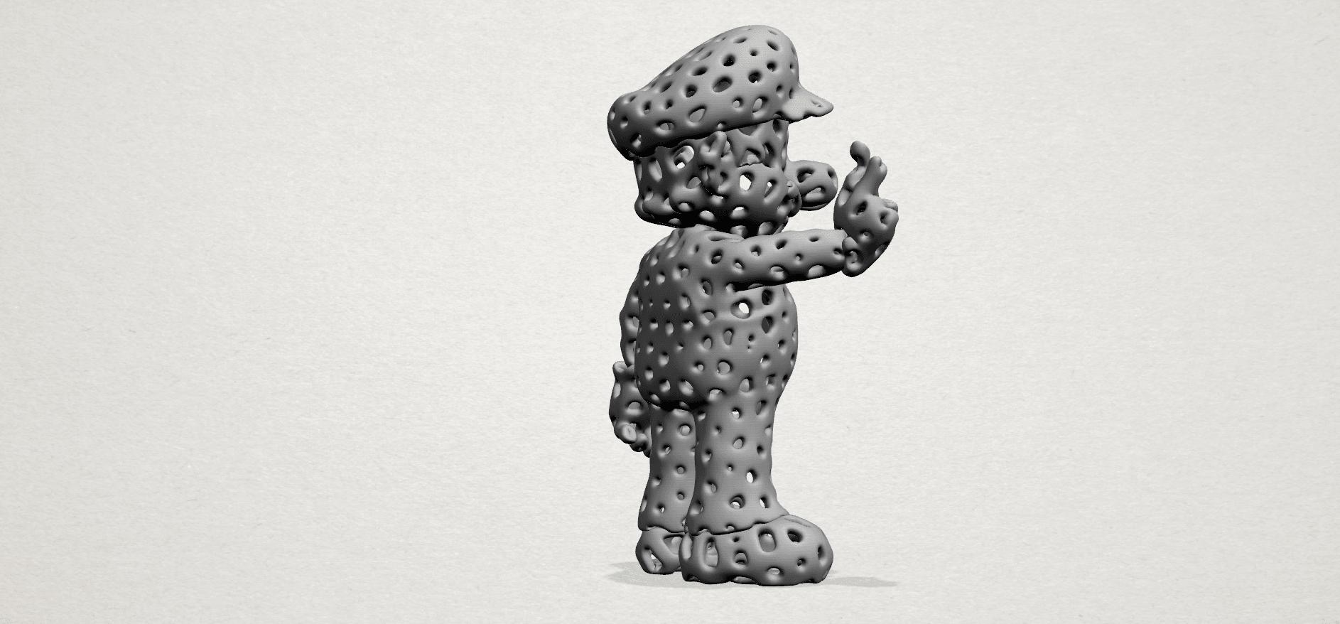 Mario-A04.png Download free STL file Voronoi Mario • Model to 3D print, GeorgesNikkei