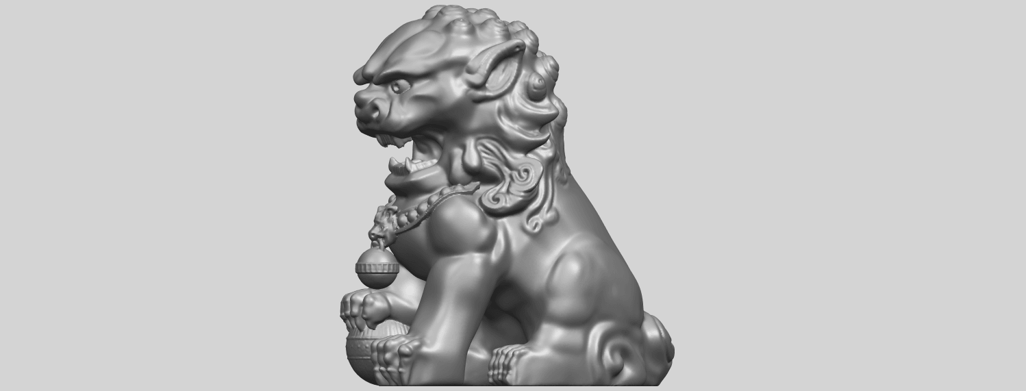 04_TDA0500_Chinese_LionA03.png Download free STL file Chinese Lion • 3D printing object, GeorgesNikkei
