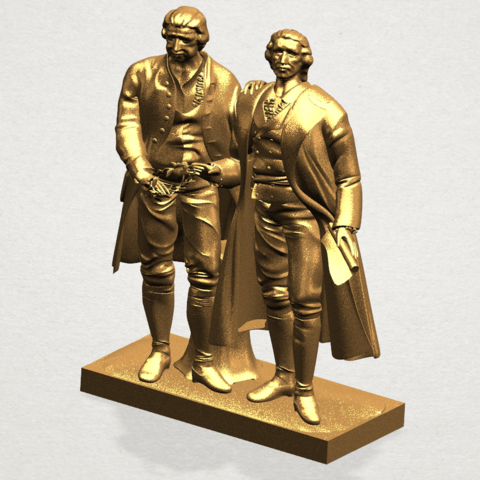 Goethe schiller 80mm - A02.png Télécharger fichier STL gratuit Goethe Schiller • Modèle imprimable en 3D, GeorgesNikkei