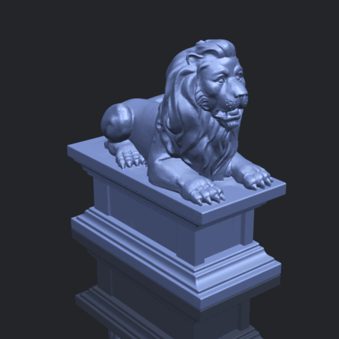 01_TDA0499_Lion_04B00-1.png Download free STL file Lion 04 • Template to 3D print, GeorgesNikkei