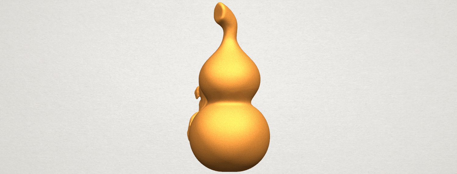 TDA0335 Bottle Gourd 01  A04.png Download free STL file Bottle Gourd 01 • 3D printing template, GeorgesNikkei