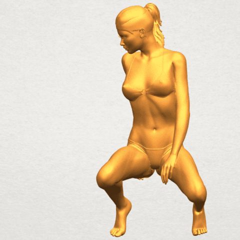 02.png Download free STL file Naked Girl D04 • 3D printable template, GeorgesNikkei