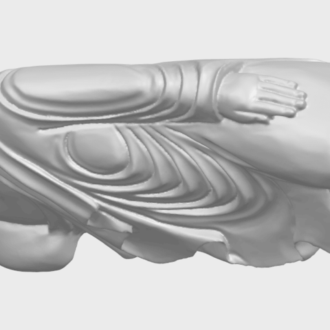 16_TDA0180_Sleeping_Buddha_(ii)_88mmA02.png Download free STL file Sleeping Buddha 02 • Design to 3D print, GeorgesNikkei