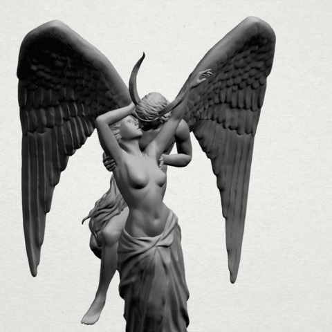 Angel and devil - A16.png Download free 3DS file Angel and devil • 3D print template, GeorgesNikkei