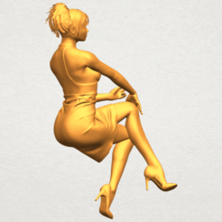 Download free 3D printer templates Naked Girl H04, GeorgesNikkei