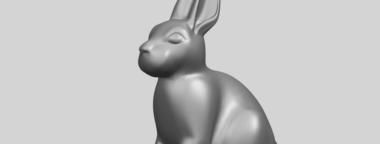 TDA0755_Rabbit_03A10.png Télécharger fichier STL gratuit Lapin 03 • Design à imprimer en 3D, GeorgesNikkei