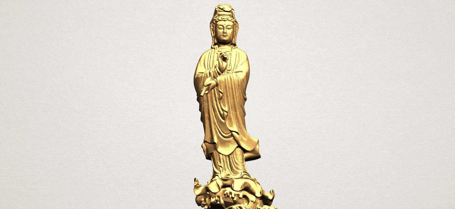 Avalokitesvara Buddha - Standing (v) A10.png Download free STL file Avalokitesvara Buddha - Standing 05 • 3D printer template, GeorgesNikkei