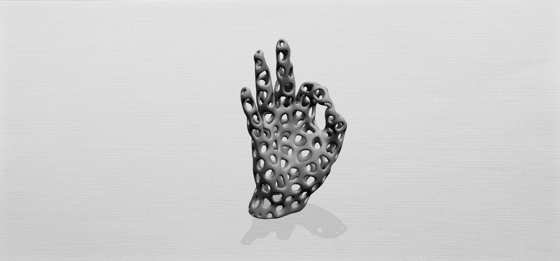 Voronoi Hand-A01.png Download free STL file Voronoi Hand • Object to 3D print, GeorgesNikkei