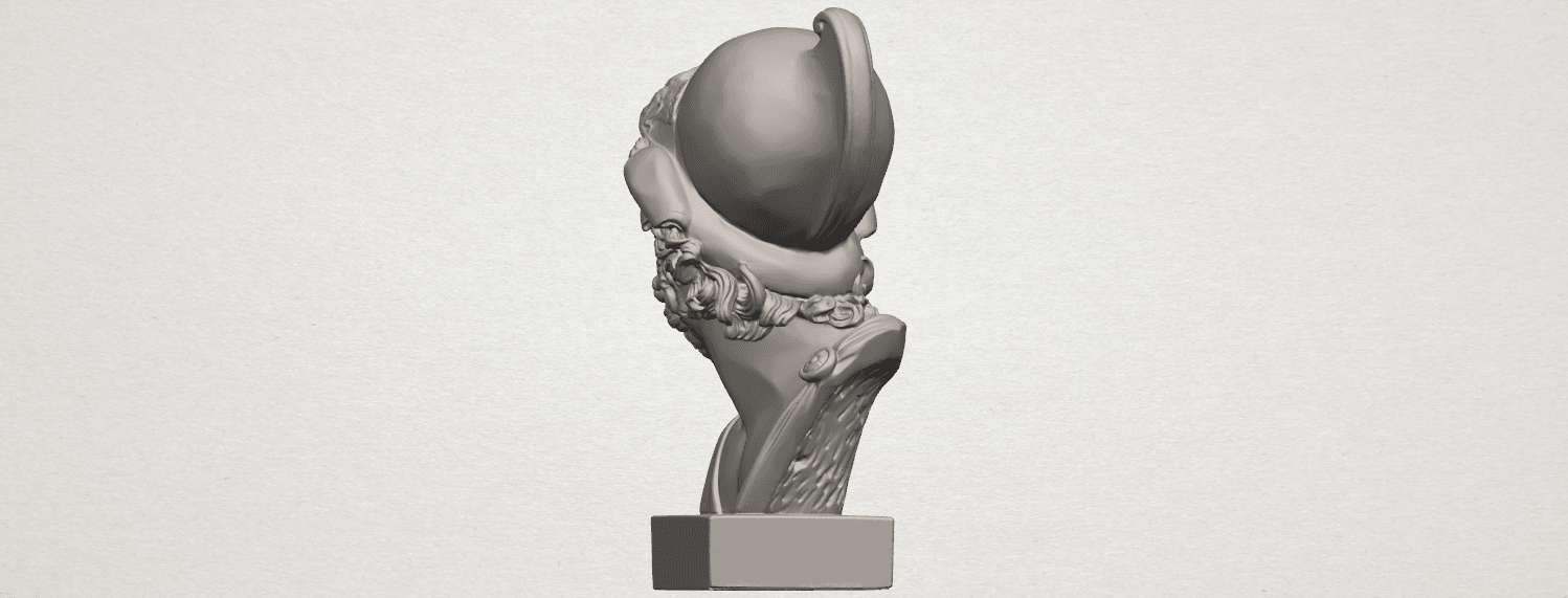 TDA0244 Sculpture of a head of man A05.png Download free STL file Sculpture of a head of man • 3D printable design, GeorgesNikkei