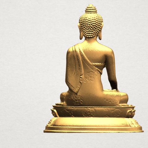 Thai Buddha (iii) A06.png Download free STL file Thai Buddha 03 • 3D printing object, GeorgesNikkei