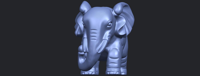 Elephant_03_-122mmB02.png Télécharger fichier STL gratuit Éléphant 03 • Modèle imprimable en 3D, GeorgesNikkei