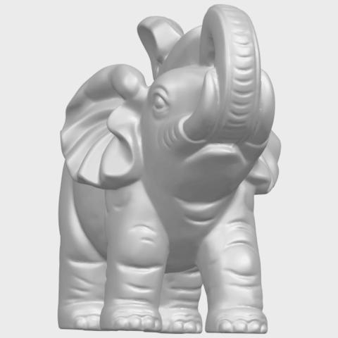 09_Elephant_02_150mmA01.png Télécharger fichier STL gratuit Eléphant 02 • Plan imprimable en 3D, GeorgesNikkei