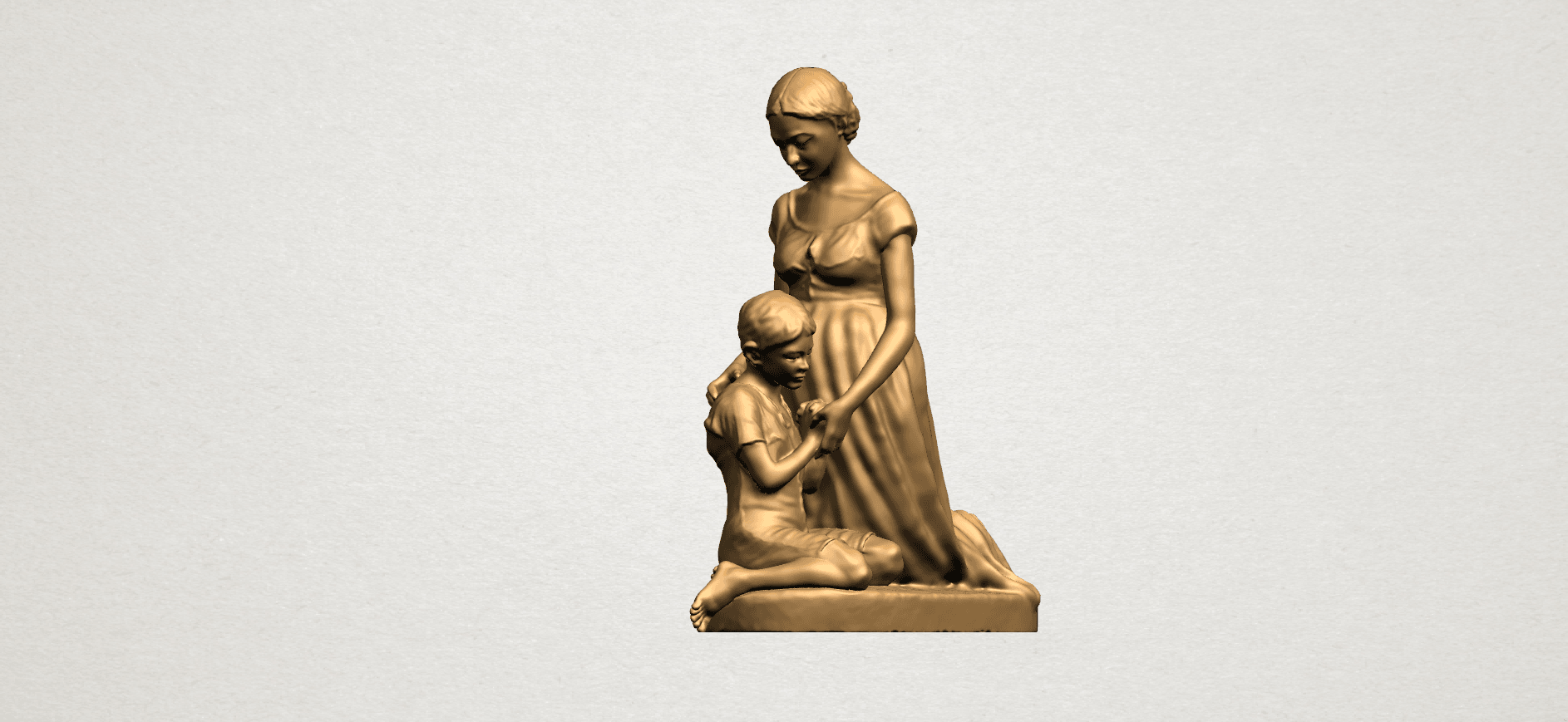 Mother-Child (ii) A09.png Download free STL file Mother and Child 02 • 3D printable design, GeorgesNikkei