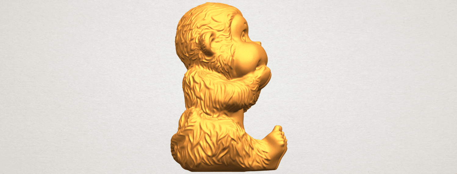 A09.png Download free STL file Monkey A04 • Model to 3D print, GeorgesNikkei