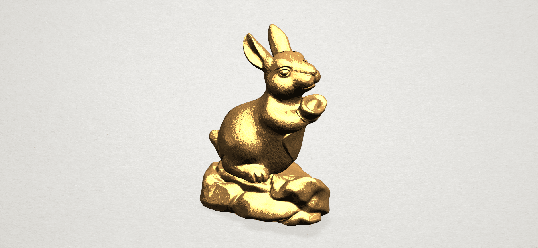 Chinese Horoscope04-02.png Télécharger fichier STL gratuit Horoscope Chinois 04 Lapin • Design à imprimer en 3D, GeorgesNikkei