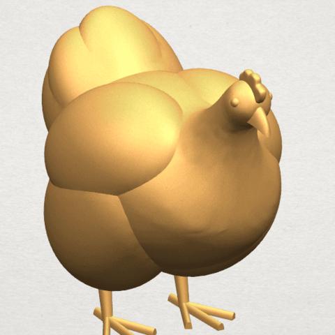 TDA0484 Hen A08.png Télécharger fichier STL gratuit Poule • Design pour imprimante 3D, GeorgesNikkei