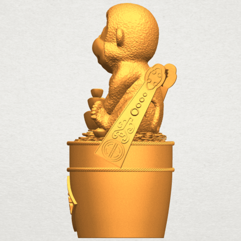 A04.png Download free STL file Monkey A05 • 3D print design, GeorgesNikkei