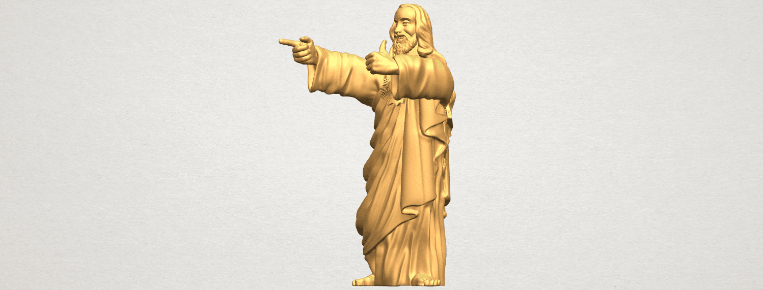 TDA0485 Jesus - Funny A02.png Download free STL file  Jesus - Funny • 3D printer template, GeorgesNikkei