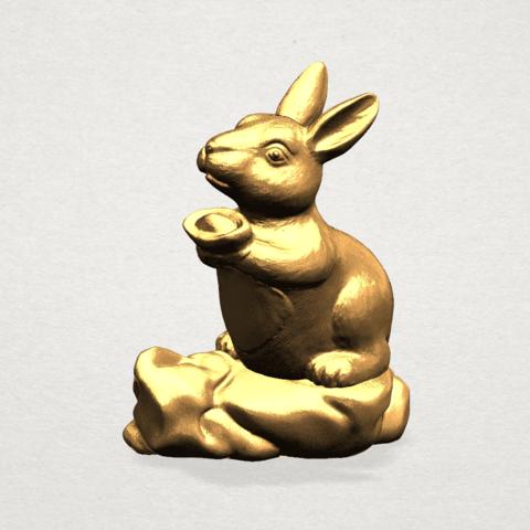 Chinese Horoscope04-01.png Télécharger fichier STL gratuit Horoscope Chinois 04 Lapin • Design à imprimer en 3D, GeorgesNikkei