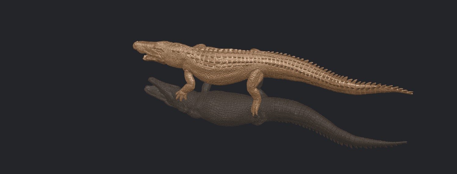 B01.png Download free STL file Alligator 01 • 3D printer object, GeorgesNikkei